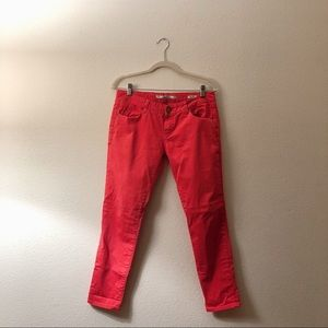 Zara Slim Fit Coral Red Jeans